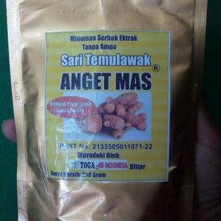 Minuman ekstrak Sari Temulawak dengan palm sugar cap ANGET MAS