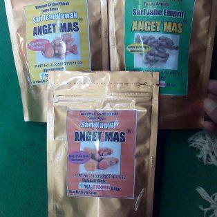 1 paket 3 macam produk minuman ekstrak empon empon cap Anget Mas