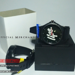 Jam tangan analog costum premium bonus box, batrei cadangan dan sticker