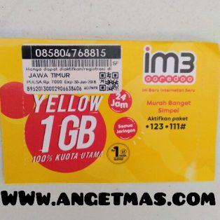 Perdana INDOSAT 7 GB  dapat pulsa Rp.7000. Atau 1GB per hari